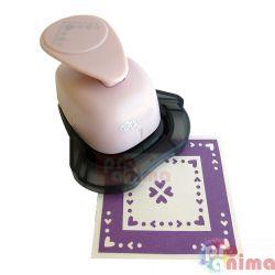 Перфоратор (пънч) за ъгъл и фриз 2.5 cm 4 сърчица
