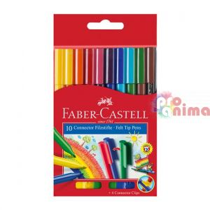 Флумастери Faber-Castell Connector 10 цвята